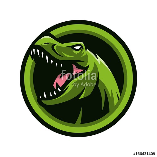 500x500 T Rex Vector Logo Icon Illustration Stock Image And Royalty Free