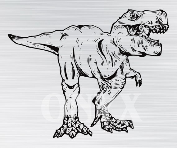570x479 T Rex Svg Hq Digital File Vector Design Svg Pdf Png Etsy