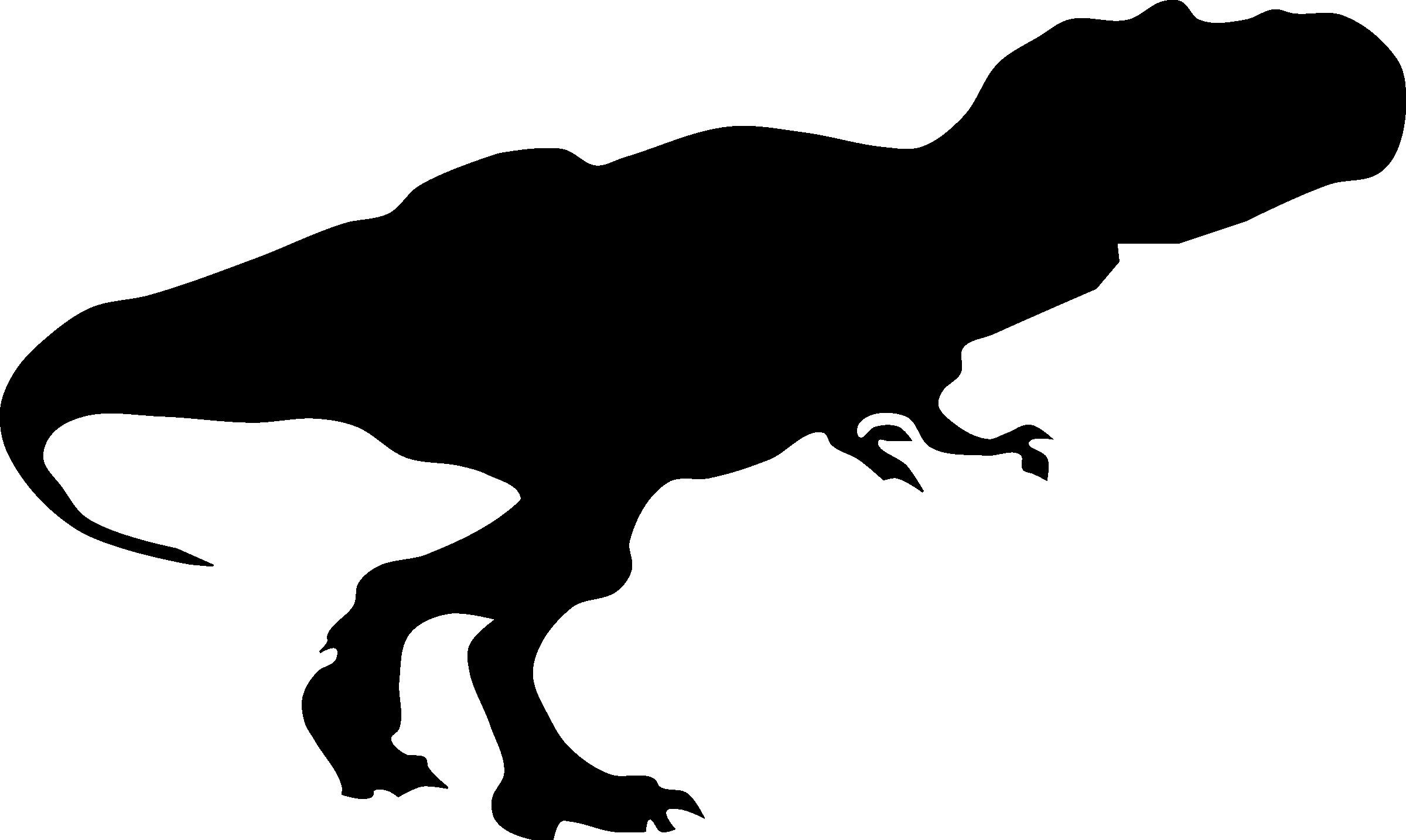 2400x1434 Tyrannosaurus Rex Silhouette 3 T Vector