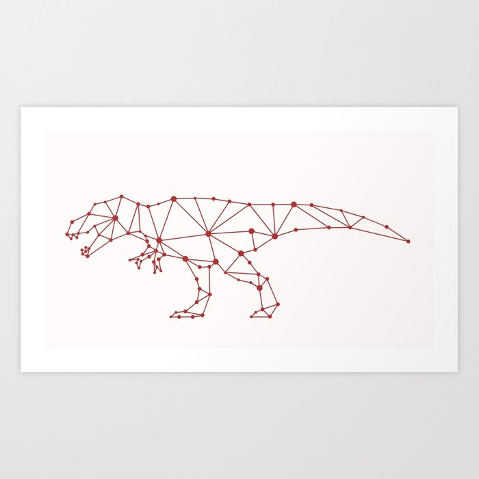 700x700 Tyrannosaurus Rex Vector Art Print By Ericmontag Society6