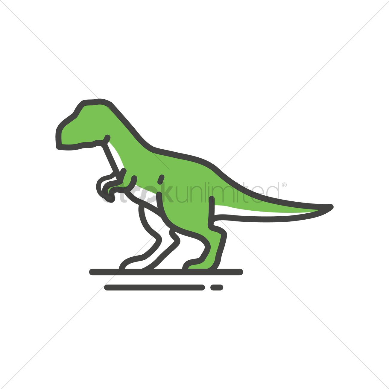 1300x1300 Tyrannosaurus Rex Vector Image
