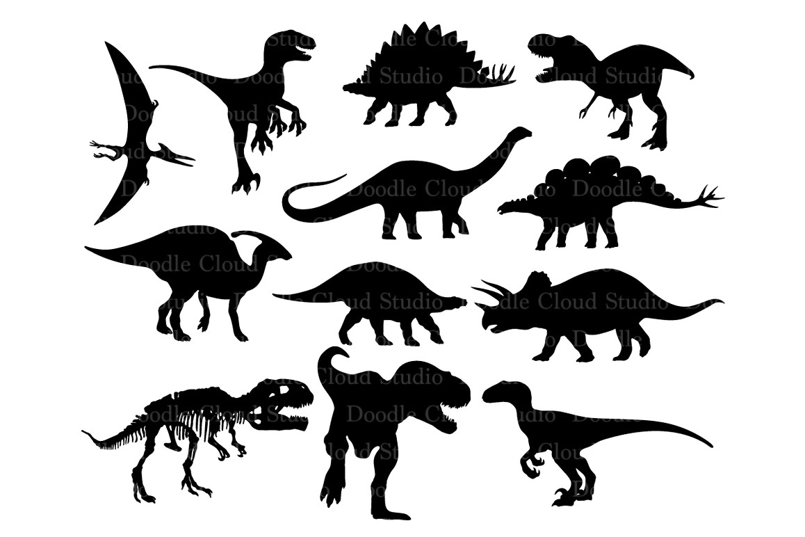 1158x772 21634627 Vector Silhouettes Of The Skeleton A Tyrannosaurus Rex