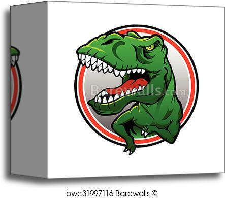 443x390 Canvas Print Of Tyranosaurus Rex Vector Drawing Barewalls