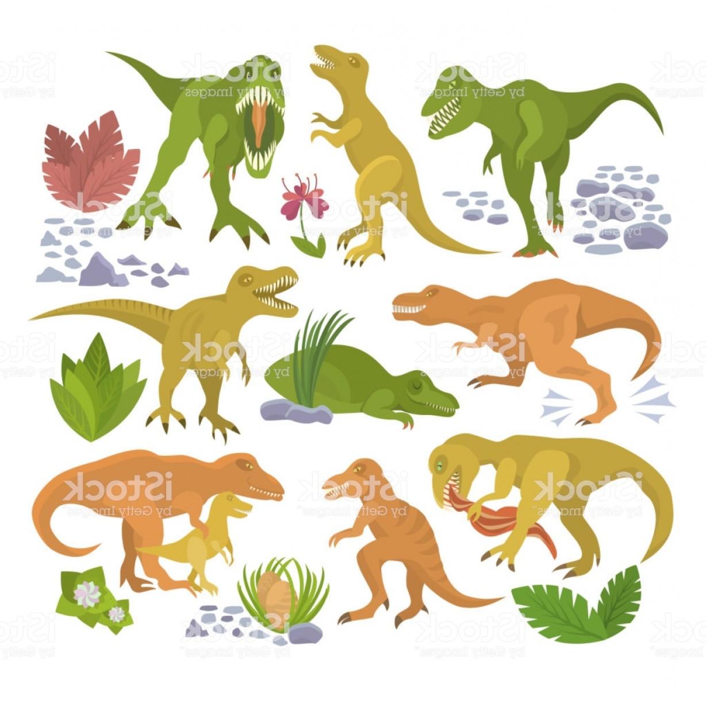 1228x1228 Dinosaur Vector Tyrannosaurus Rex Cartoon Character Dino And