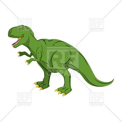 400x400 Green Giant Dinosaur Tyrannosaurus Rex Vector Image Vector