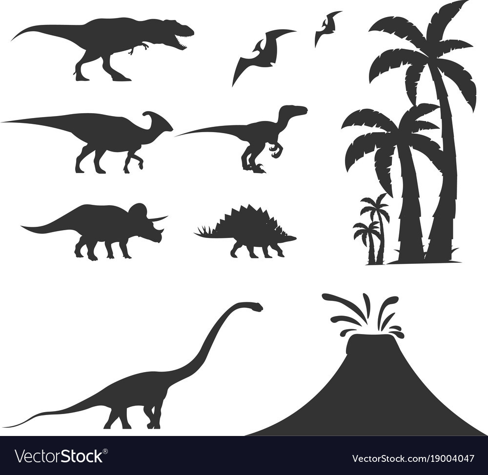 1000x974 Isolated Silhouette Of Dinosaur On White Background Also T Rex
