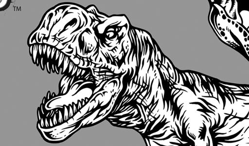 512x300 T Rex And Raptor Clip Art Vector Genius