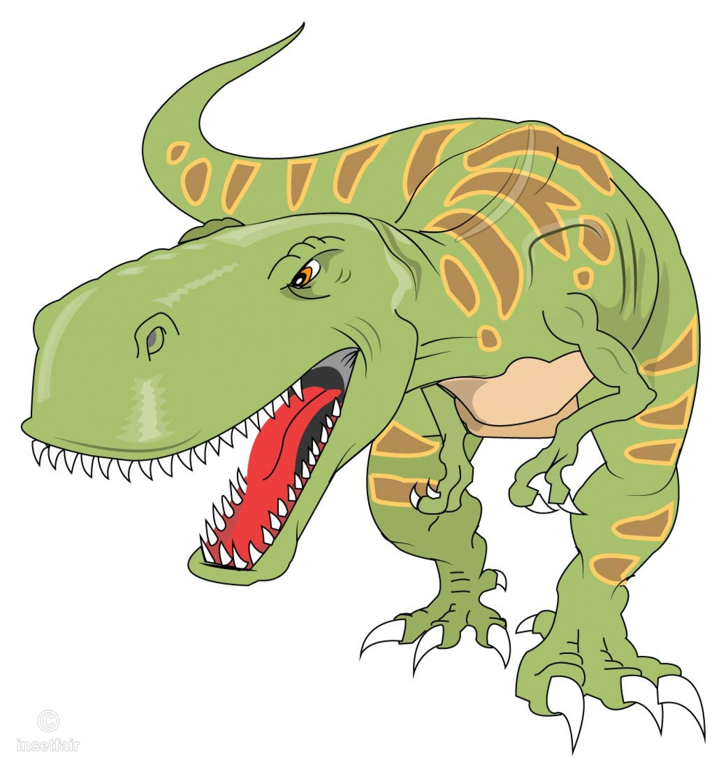 1497x1600 Tyrannosaurus Green Dinosaur T Rex Vector Free Download