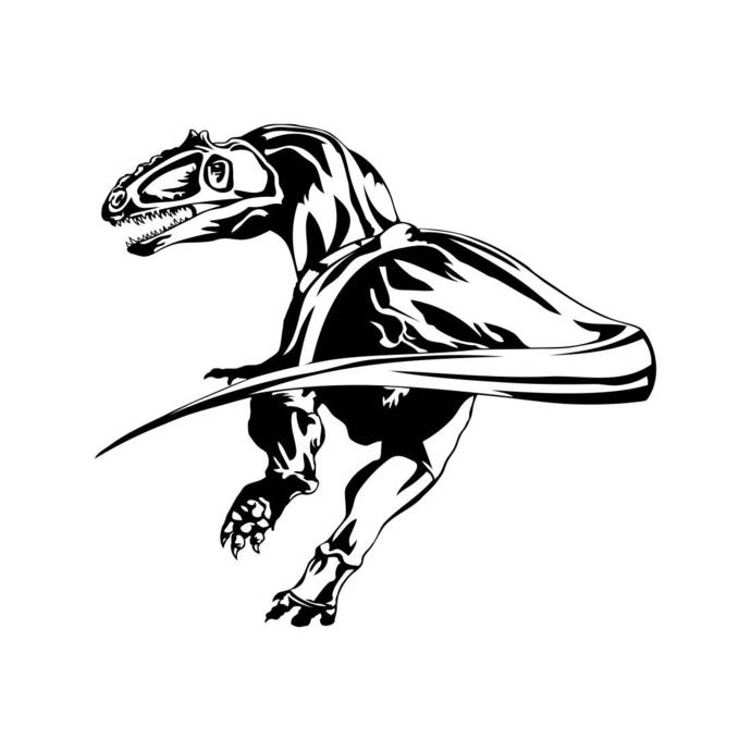 690x690 Dinosaur Dino T Rex Trex Graphics Svg Dxf Eps By Vectordesign