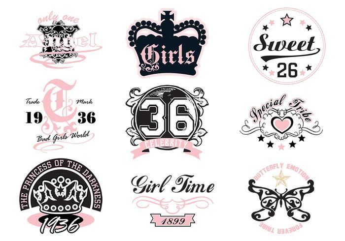 700x490 Girly T Shirt Vector Designs