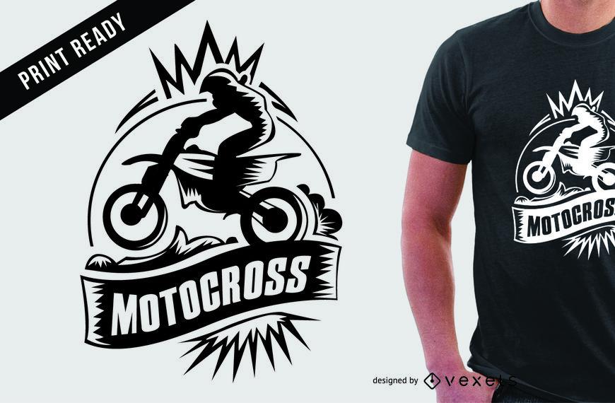 870x570 Motocross Extreme Sport T Shirt Design
