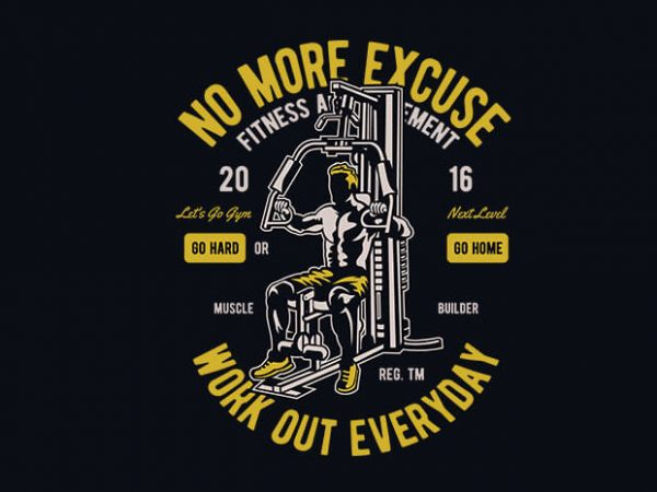 600x450 Work Out Everyday Vector T Shirt Design