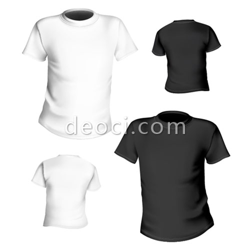 500x504 2 T Shirt Design Template Of Black And White Vector Eps Files For