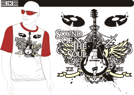 T Shirt Design Vector Free