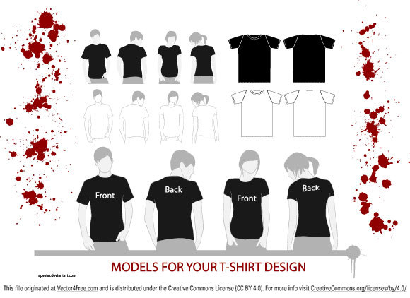 580x422 Free T Shirt Vector Models
