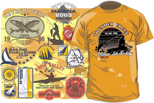 500x337 Free Vector T Shirt Designs Outdoor Recreations Fishing