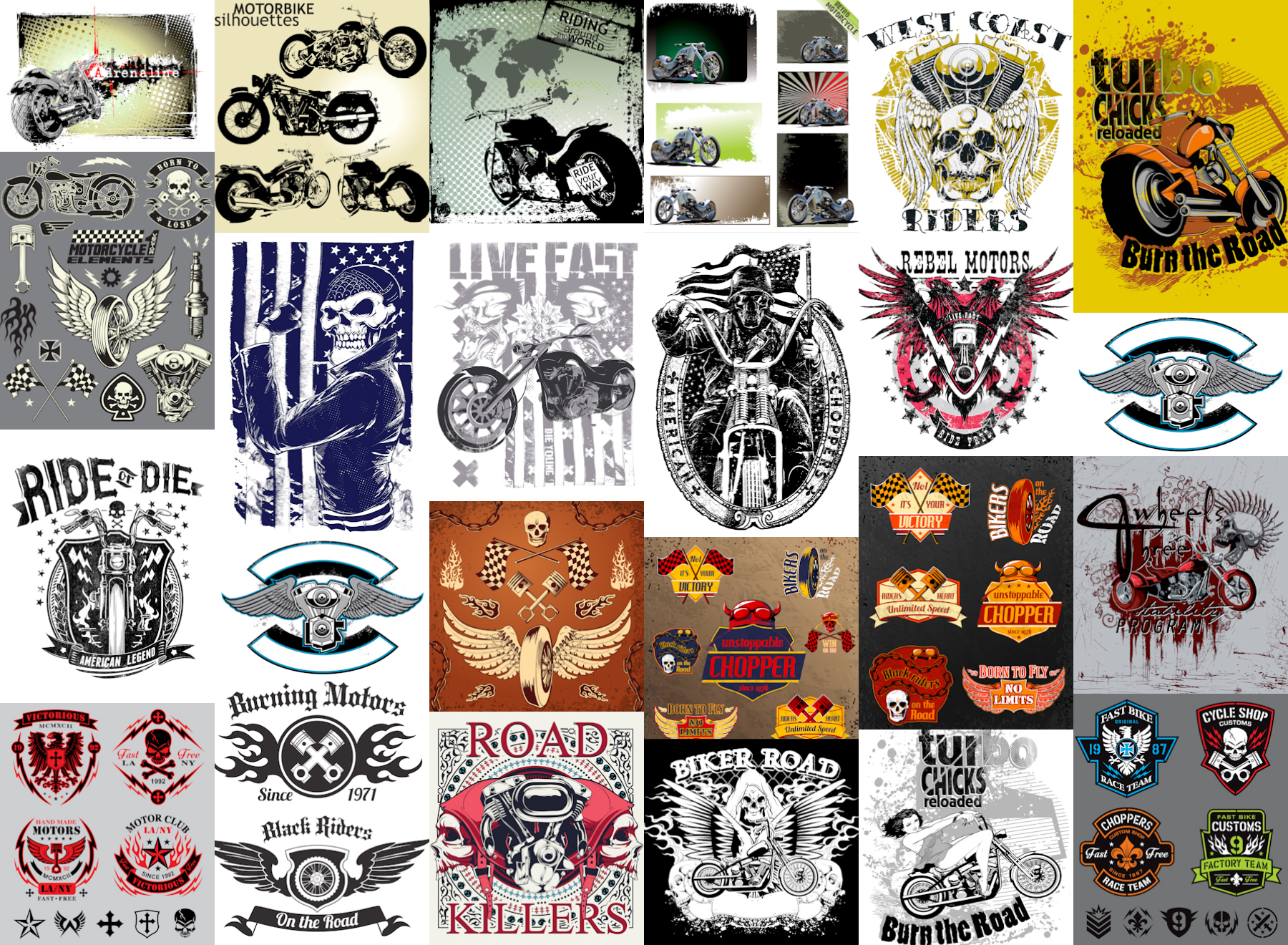 1800x1320 Grunge Bike Designs, Bike Labels, Motorcycle Backgrounds Or T