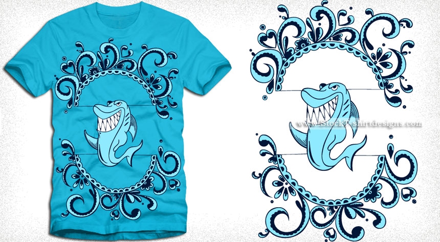 860x473 Shark T Shirt Design Vector Vector T Shirt Designs Ai Eps