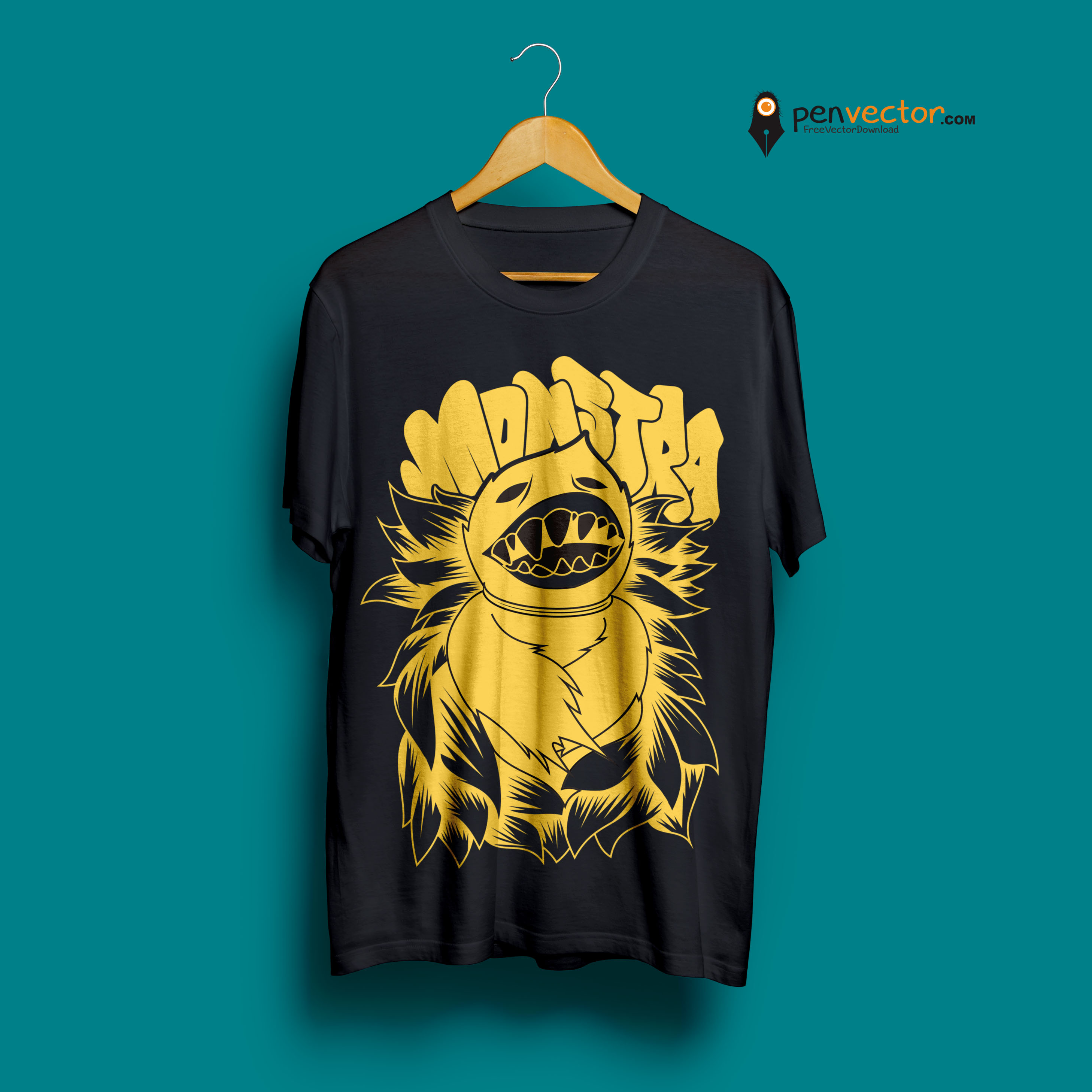 2916x2916 Monstra T Shirt Design Vector Free Vector