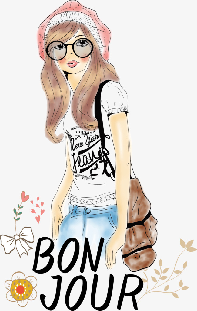 650x1029 Fashion Girl T Shirt Design, Decoration, T Shirt, Vector Png And