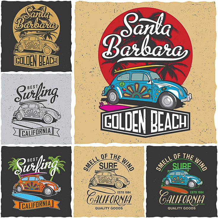 736x736 California Surfing T Shirt Prints Vector Free Download