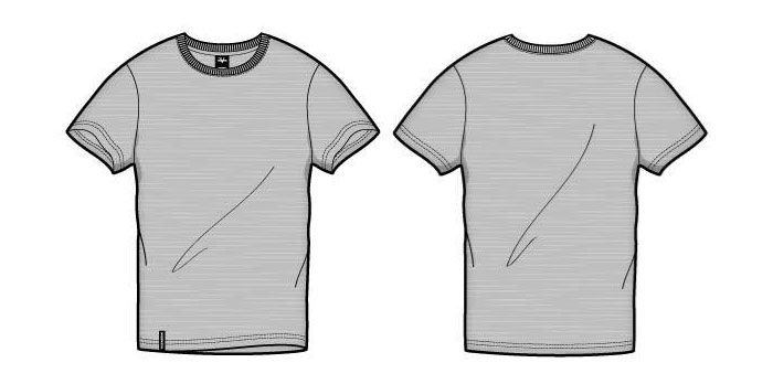 700x348 41 Blank T Shirt Vector Templates Free To Download The Box
