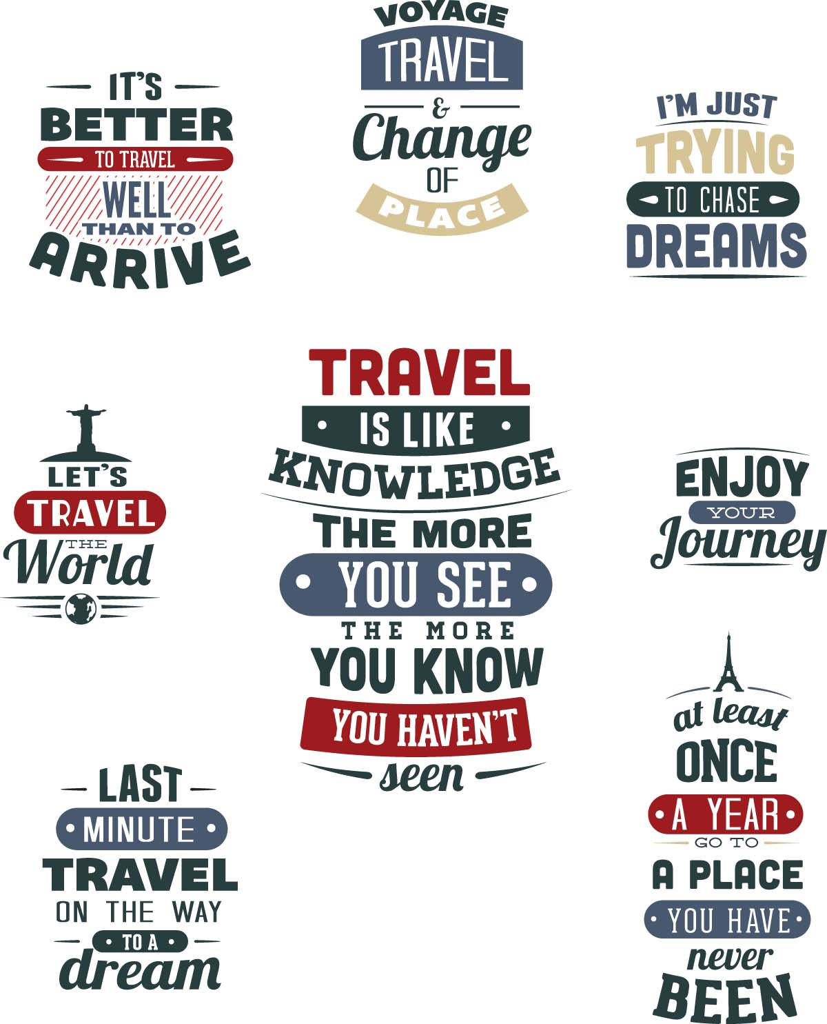 1200x1485 Travel T Shirt Templates Set Vector Free Download