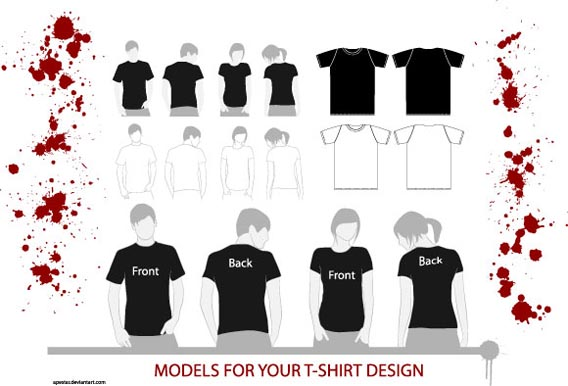 568x386 82 Free T Shirt Template Options For Photoshop And Illustrator