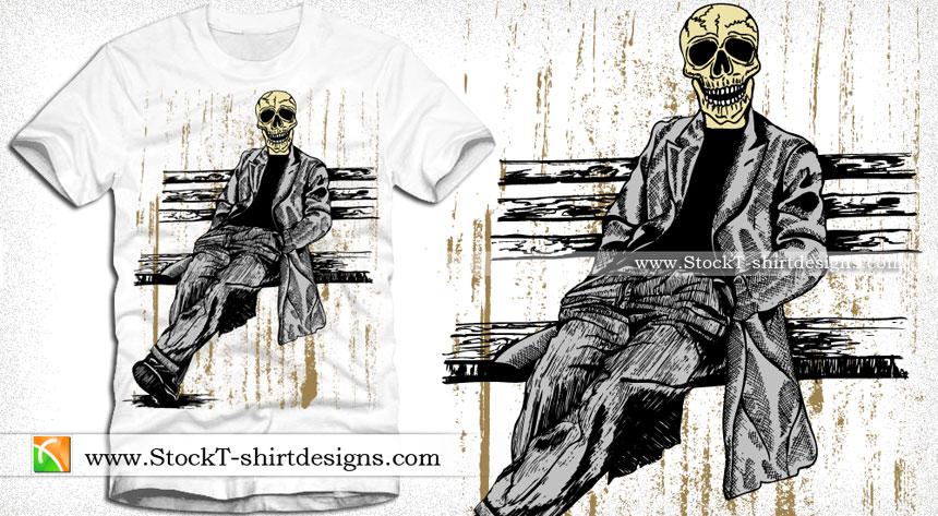 860x473 Skull Man Vector T Shirt Graphics Design Vector T Shirt Designs