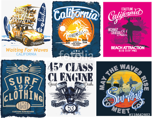 500x389 Surf Sport Typography, T Shirt Graphics, Vectors Stock Image And