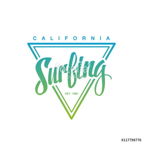 500x500 Surfing Logo. Surfing Calligraphy. Handwritten Word. Surf