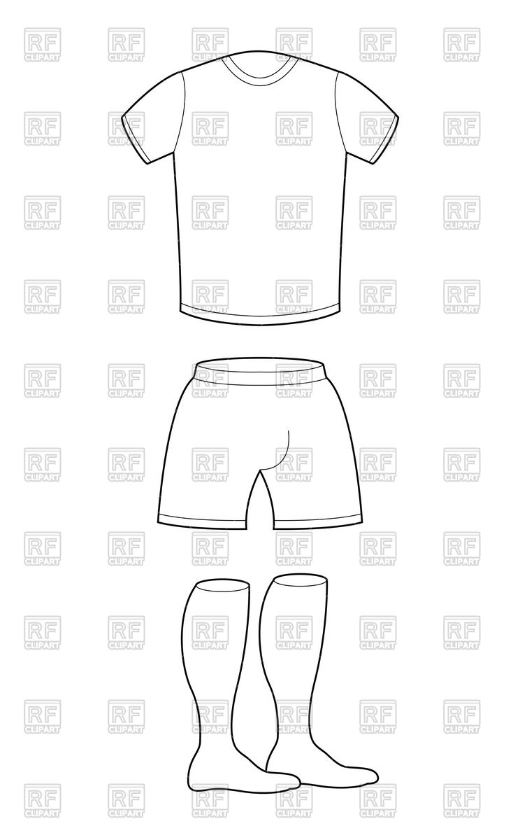 744x1200 T Shirt, Shorts And Socks Template