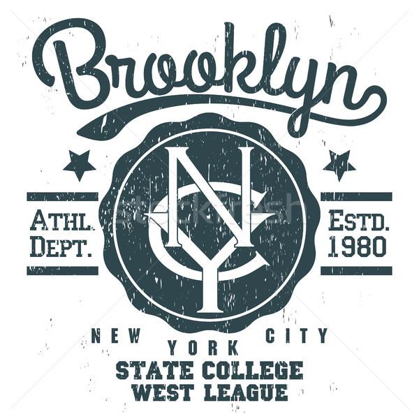600x600 Brooklyn T Shirt Graphics Vector Illustration Andrei Malysh