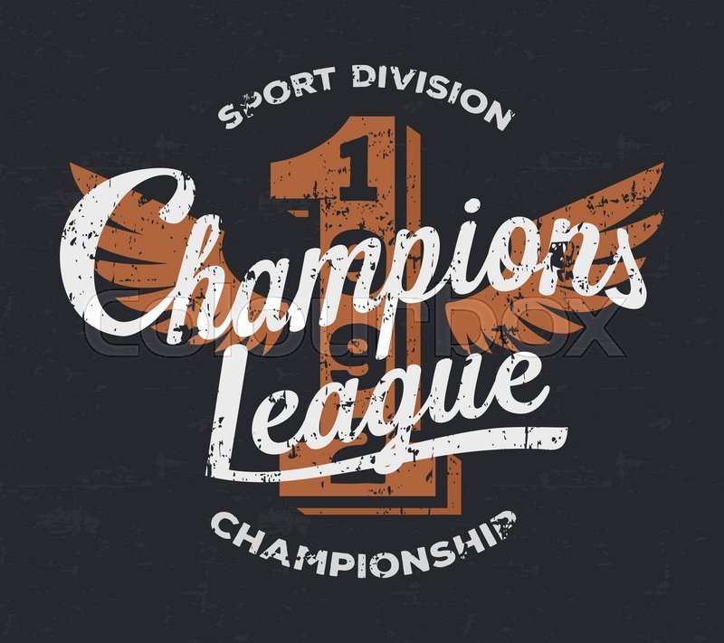 800x711 Championship League, Football Typography. Vintage Tee Print Design