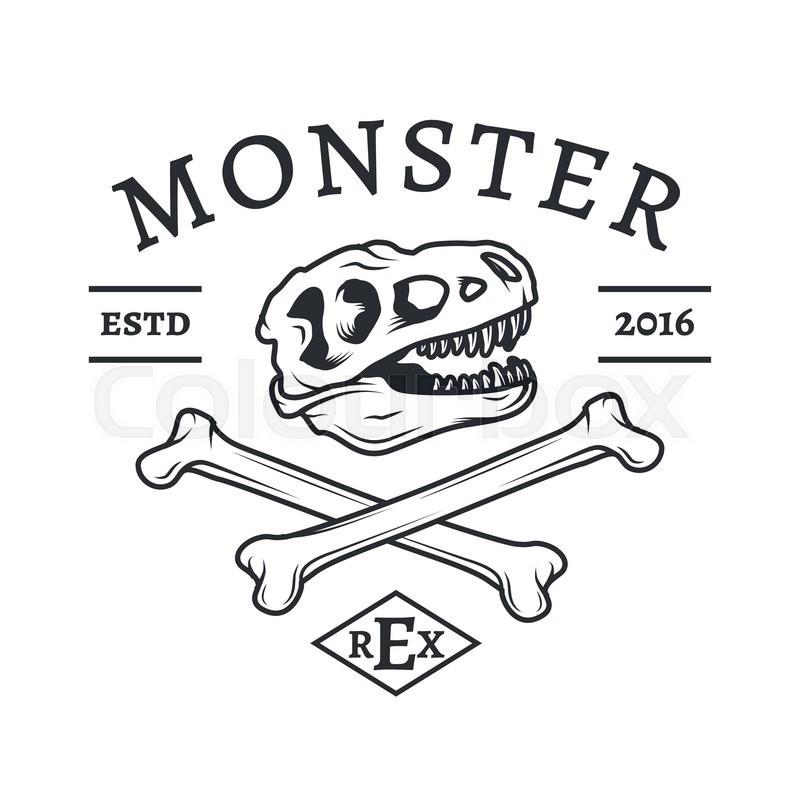 800x800 T Rex Logo Vector. Jurassic Dinosaur Logotype. Tyrannosaurus Dino