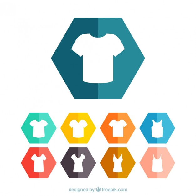 626x626 T Shirt Icons Vector Free Download