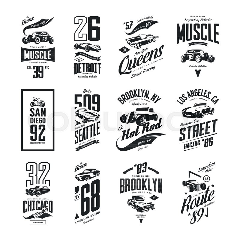 800x800 Vintage Muscle, Roadster, Hot Rod And Classic Car Vector T Shirt