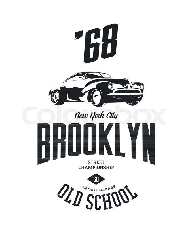 667x800 Vintage Vehicle Vector Tee Shirt Logo Isolated On White Background