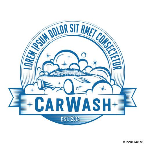 500x500 Car Wash Logo. Vector And Illustration. T Shirt Design.