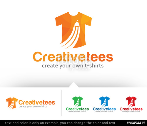 500x429 Creative T Shirt Logo Design Template Vector Stock Image And