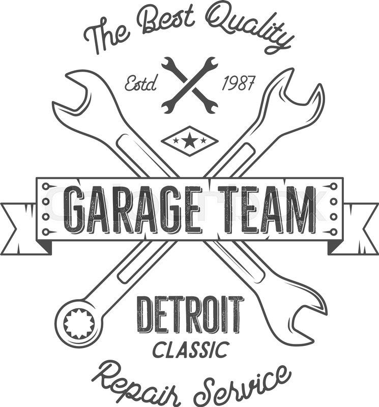 745x800 Garage Service Vintage Tee Design Graphics, Detroit Classic