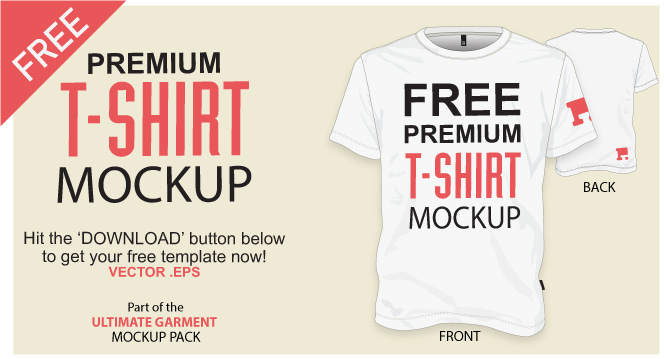 664x359 Free T Shirt Template Vector Mockup Vector File