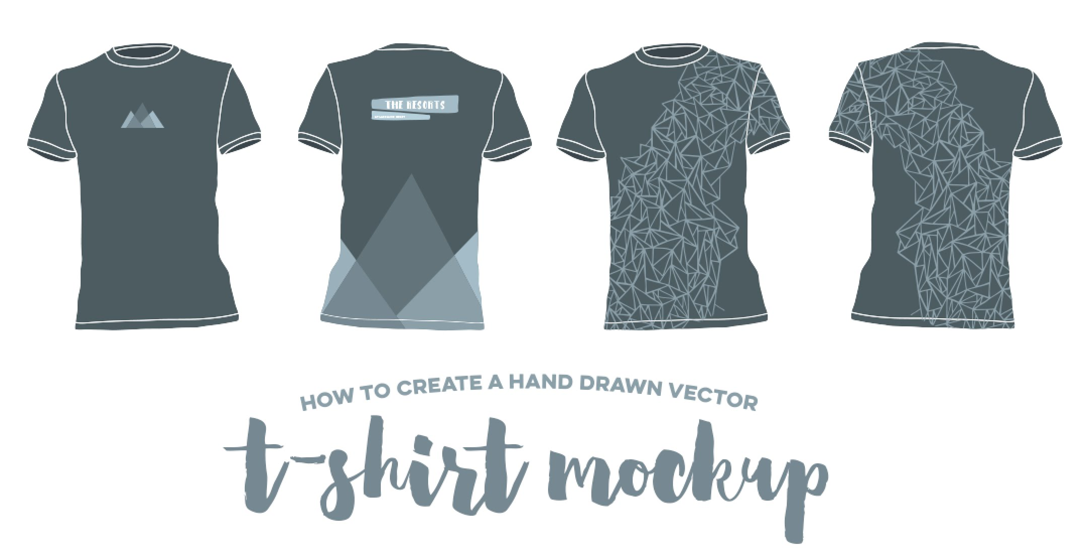 2158x1098 How To Create A Hand Drawn Vector T Shirt Mockup
