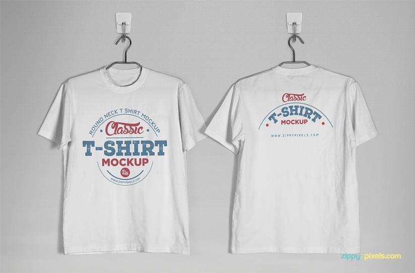 824x542 Round Neck T Shirt Mockup Shirt Mockup Vector