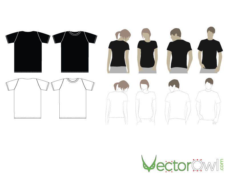 792x612 T Shirt Mock Ups Vector Free Vectors