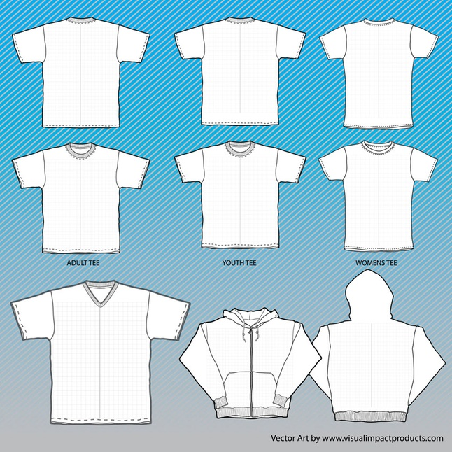 646x646 T Shirts Mock Up Templates With Grid Vector Free Download