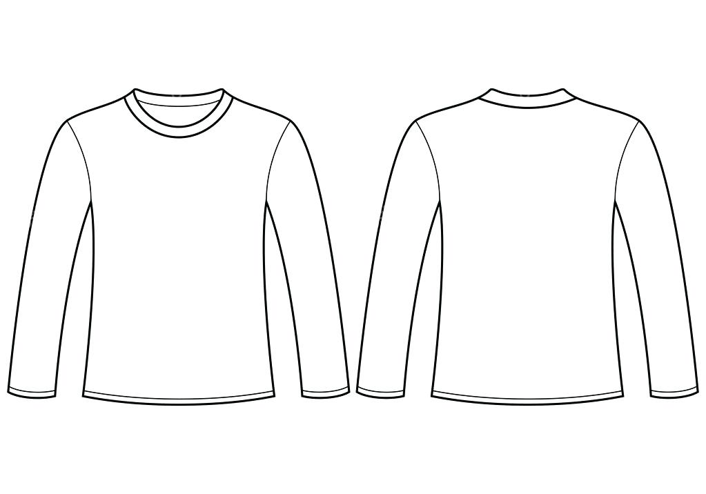 1023x716 Long Sleeve T Shirt Template Label Free Vector 8 For V Tangledbeard