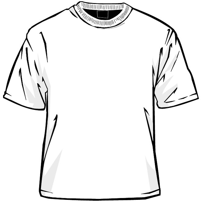 660x660 T Shirt Template Vector