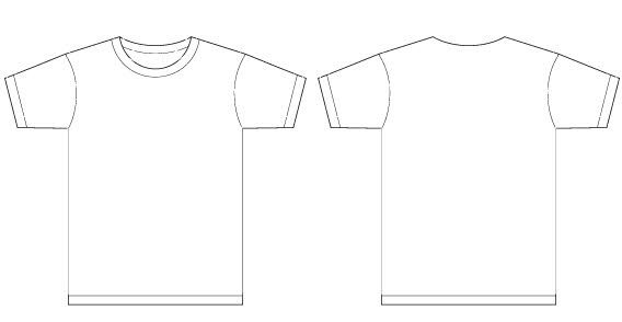 568x294 Basic Template Vector T Shirt Templates Template