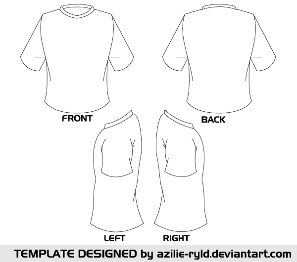 600x530 Blank Tshirt Template Vector Front And Back 123freevectors
